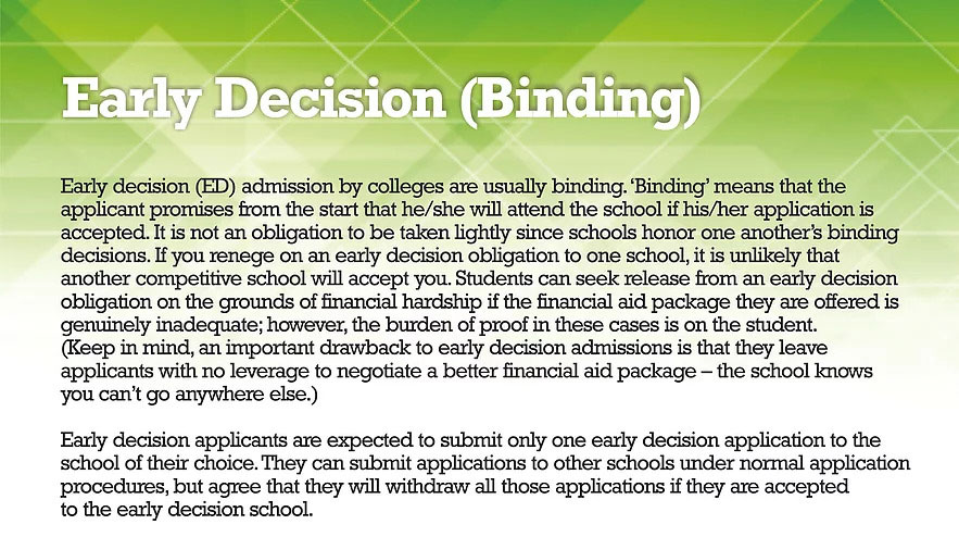 EARLY-DECISION